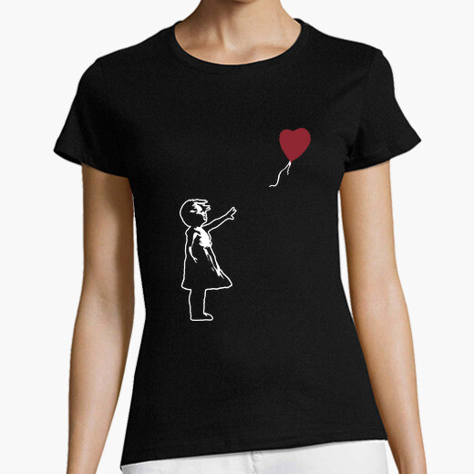 Camiseta Girl With Balloon - There is...
