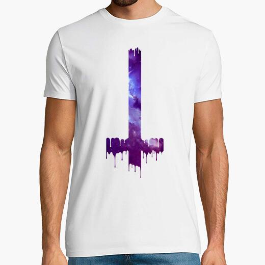 Camiseta Gotico Cruz Hipster Boho Galaxia