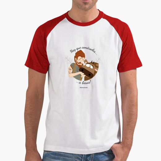Camiseta hay que comérselos a besos..3