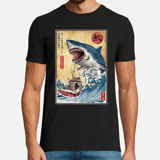 Camiseta Hunting the Shark in Japan
