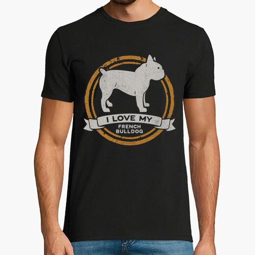Camiseta I love my French Bulldog -...