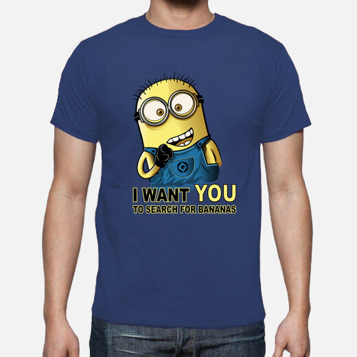 Camiseta I want you to search for bananas