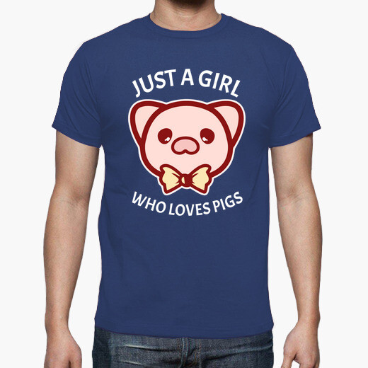 Camiseta Just a girl who loves pigs