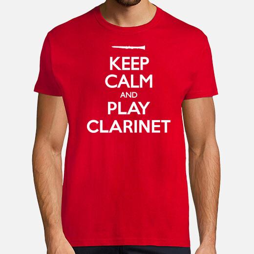 Camiseta Keep Calm and Clarinet
