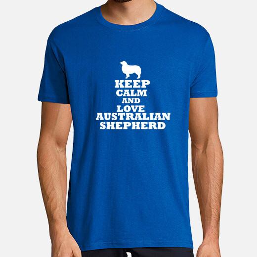 Camiseta Keep calm and love australian...