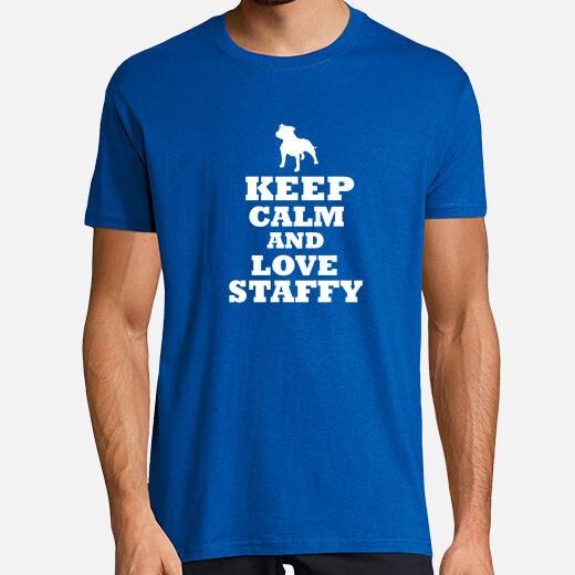 Camiseta Keep calm and love staffordshire...