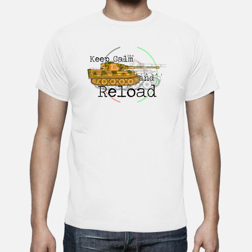 Camiseta Keep calm and reload the panzer