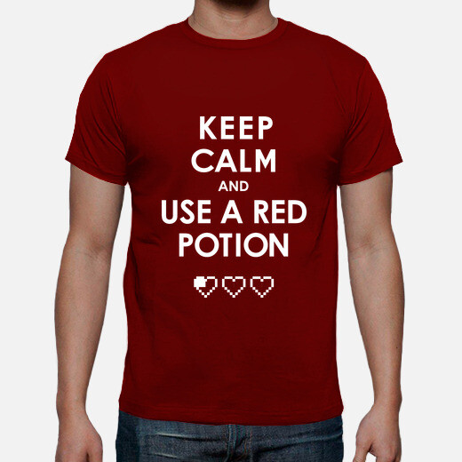 Camiseta Keep calm and use a red potion