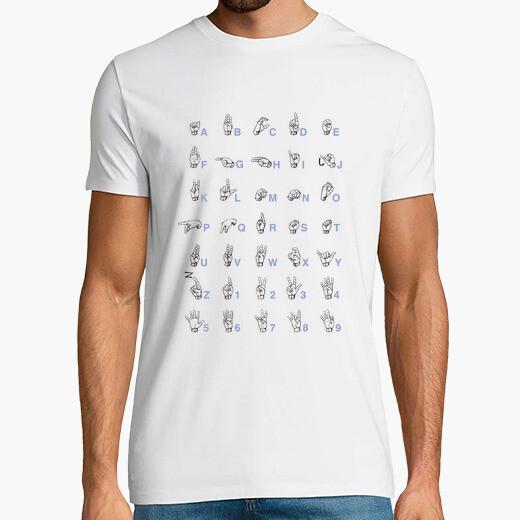 Camiseta lenguaje de signos Gris Hombre,...