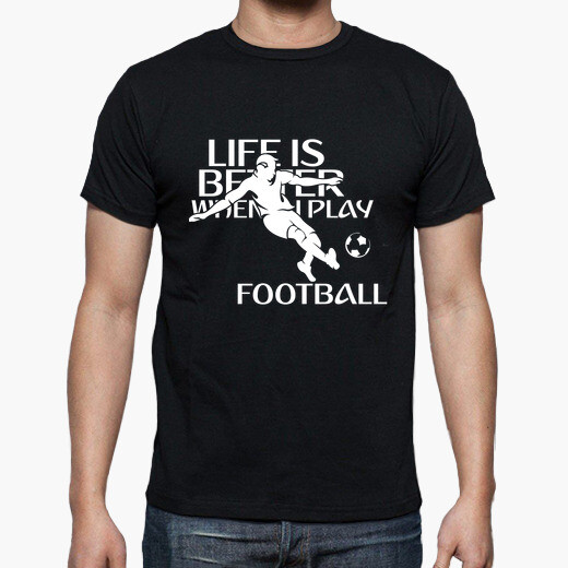 Camiseta Life is better when i play...