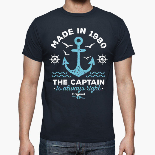 Camiseta Made in 1980. The Captain is...