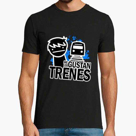 Camiseta Me gustan los trenes (I like...