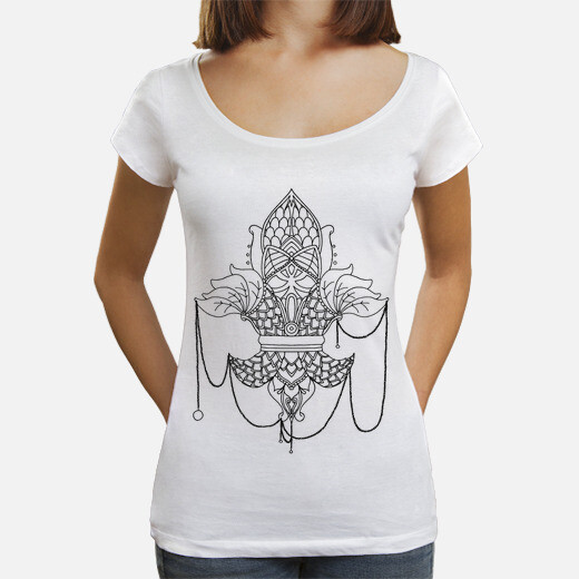 Camiseta Mujer, cuello ancho & Loose Fit,...