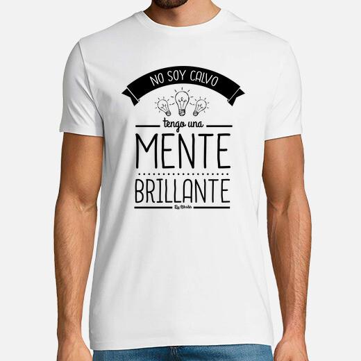 Camiseta No soy calvo, tengo una mente...