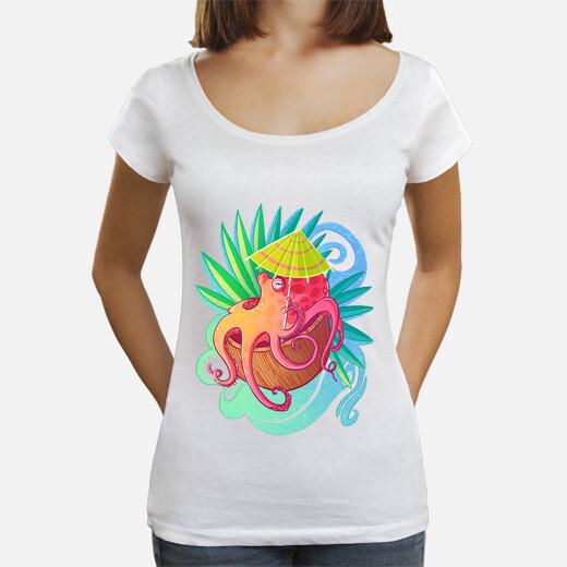 Camiseta Octopus on the Beach
