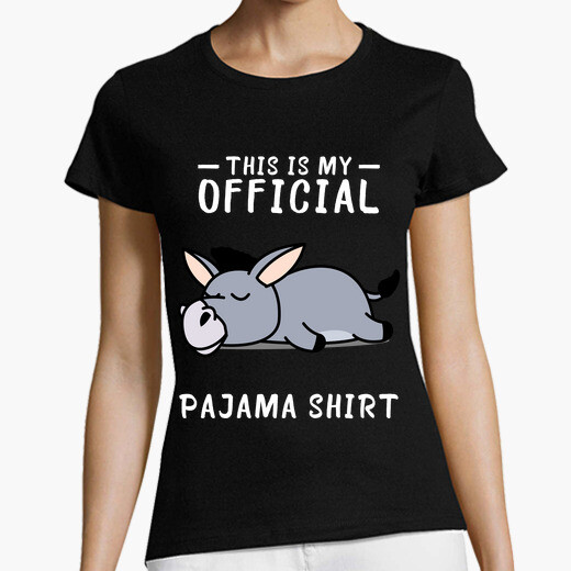 Camiseta pijama camisero de burro