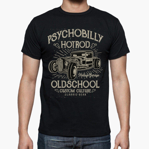 Camiseta Psychobilly Hot Rod