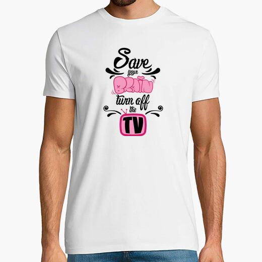 Camiseta salvar a su cerebro, apague la tv