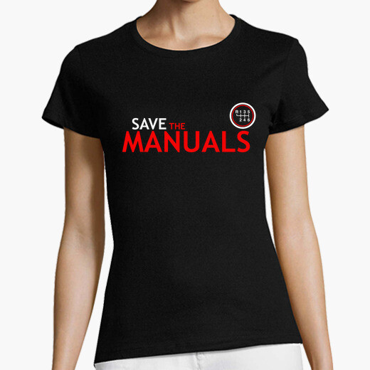 Camiseta Save The Manuals white red