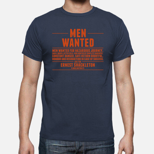 Camiseta Shackleton men wanted