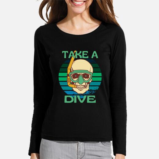 Camiseta sumergirse en el esqueleto del...