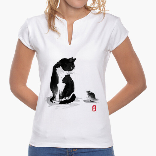Camiseta The cat an the little mouse