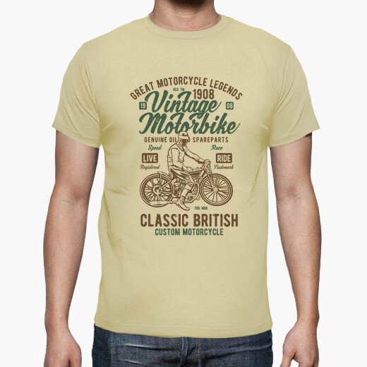 Camiseta Vintage Motorbike