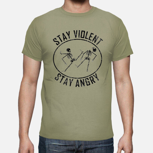 Camiseta violent and angry