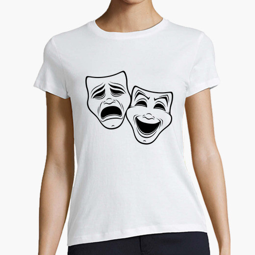 Comedy And Tragedy Theater Masks Black...
