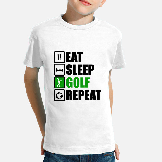 Eat sleep golf repeat kids clothes
