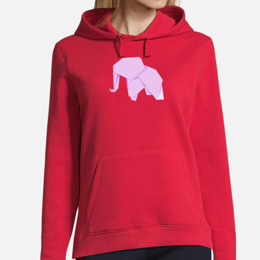 elefante rosa. aplícalo sobre diferentes colores de  con y sin capucha.