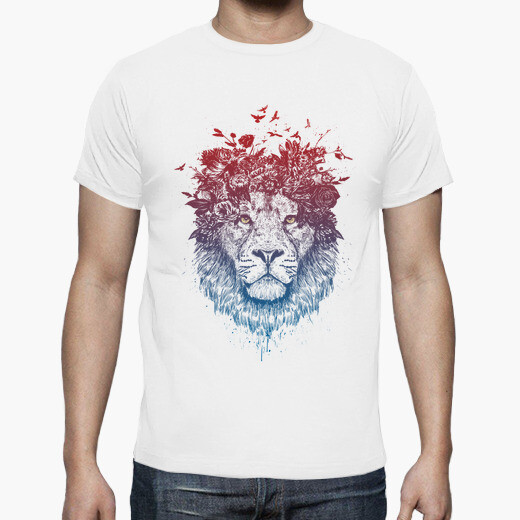 Floral lion III t-shirt