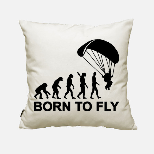 Funda cojín Evolution Skydiving born to fly