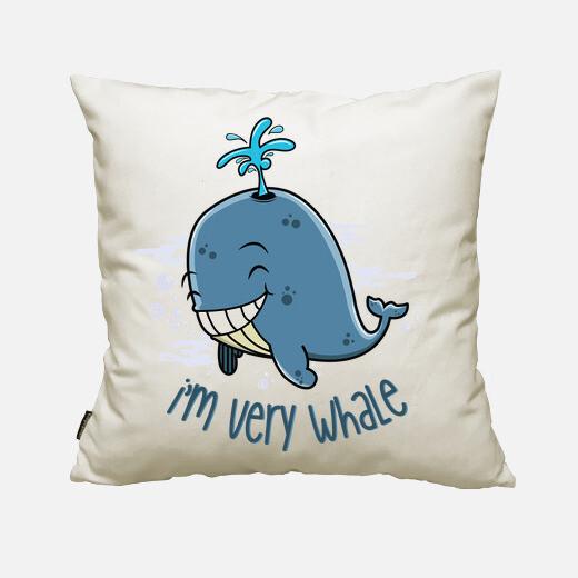 Funda cojín I'm very whale