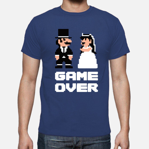 Game over-mario t-shirt