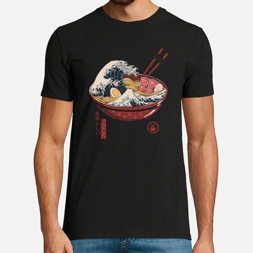 Great ramen wave shirt mens t-shirt