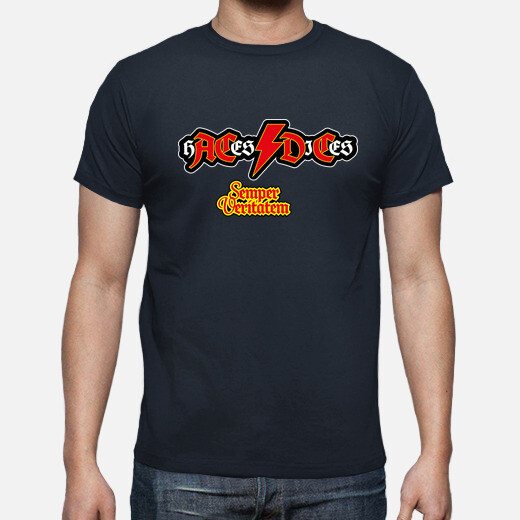H ace s dices versione ac dc t-t-shirt