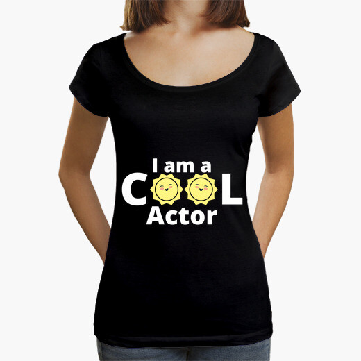 I am a cool actor design  with a t-shirt