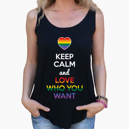 Keep calm and love who you want (dark...