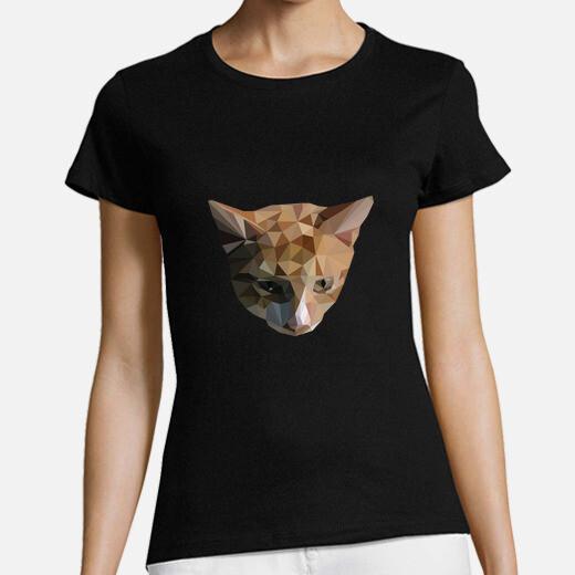 Low poly shirt cat woman t-shirt