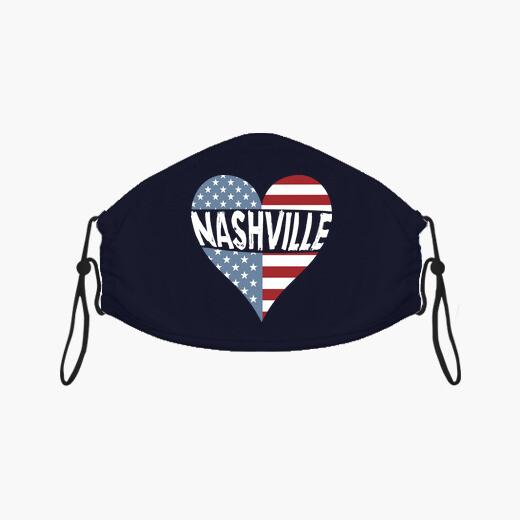 Mascarilla Camiseta Nashville Tennessee...