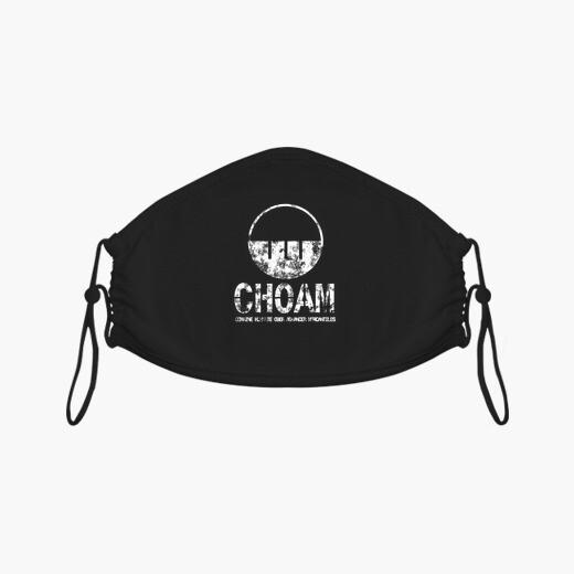 Mascarilla Choam logo vintage