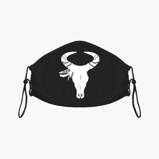Mascarilla Craneo Toro  Cabeza  Hueso