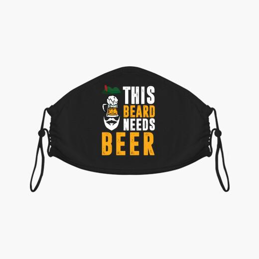Mascarilla esta barba necesita una cerveza...