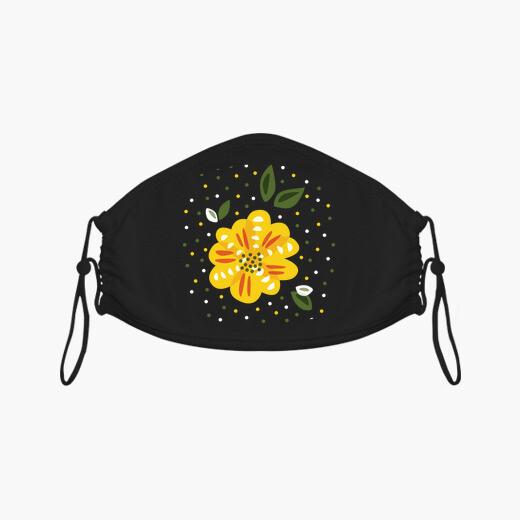 Mascarilla flor de onagra amarilla