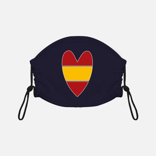 Mascarilla niño Corazón en España blanco