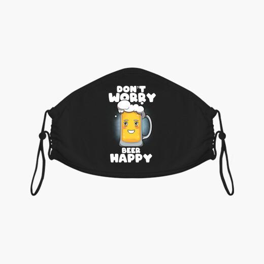 Mascarilla no te preocupes cerveza feliz