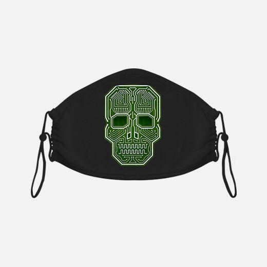 Mascarilla Skull Hacker