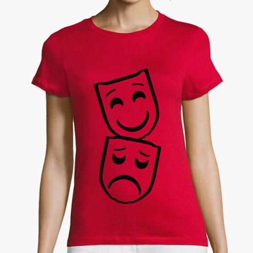 Mask / masks / theater / silhouette t-shirt