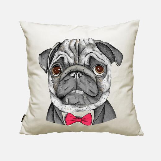 Mr. pug cushion cover